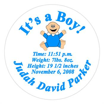 Birth Announcement Baby Label