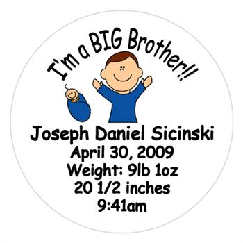 Birth Announcement Big Brother Lollipop