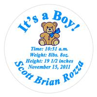 Birth Announcement Teddy  Label