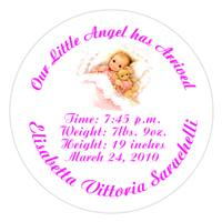 Birth Announcement Baby Sleeping Label