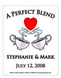 Bridal Shower Coffee Cups Label