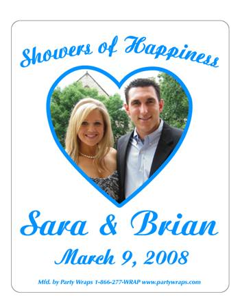 Bridal Shower Photo Heart Label