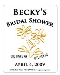 Bridal Shower She Loves Me Label
