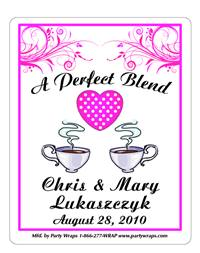 Bridal Shower Scroll Coffee Label