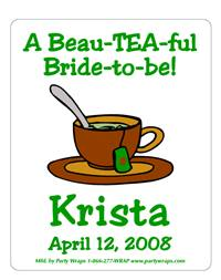 Bridal Shower Tea Cup Label