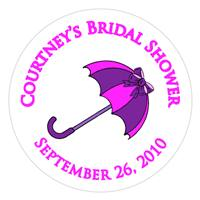 Bridal Shower Umbrella Label