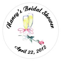 Bridal Shower Champagne Rose Label