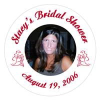Bridal Shower Silhoulette Photo Label