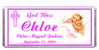 Christening Sleeping Girl Candy Bar
