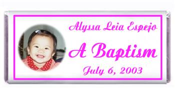 Christening Photo Girl Candy Bar