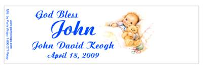 Christening Sleeping Baby Water Bottle Labels