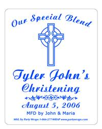 Christening Celtic Cross Label