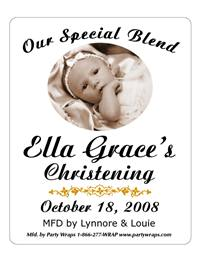 Christening Photo Label