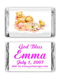 Christening Miniature Candy Bars - Graphic