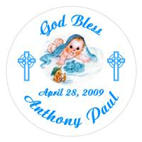 Christening Blanket Baby Label