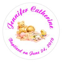 Christening Crawling Baby Label