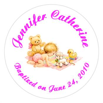 Christening Crawling Baby Lollipop