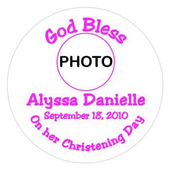 Christening Photo Girl Lollipop