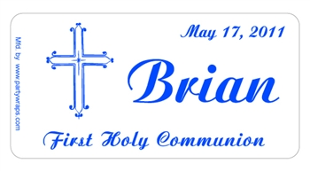 Communion Cross Label