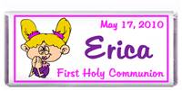 Communion Cartoon Girl Candy Bar