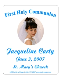 Communion Photo Chruch Script Label
