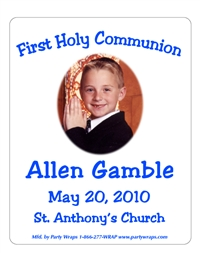 Communion Photo Chruch Label