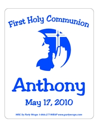 Communion Praying Child Label
