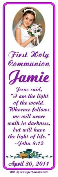 Communion Photo Bookmarker