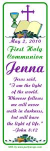 Communion Bible Chalice Cross Bookmarker