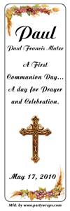 Communion Grape Vine Cross Bookmarker