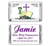 Communion Miniature Candy Bars - Graphic