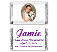 Communion Miniature Candy Bars - Photo