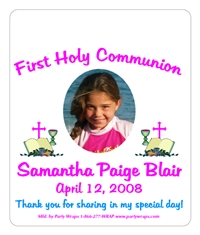 Communion Photo Bible Chalice M&M Tube