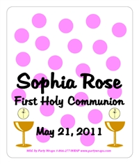 Communion Polka Dots M&M Tube