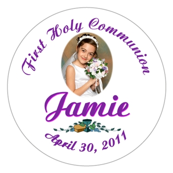 Communion Photo Script Label