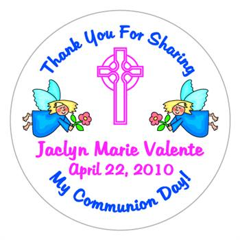 Communion Flying Angels Label