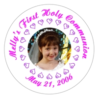 Communion Photo Heart Lollipop