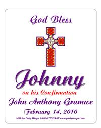 Confirmation Stained Glass Label