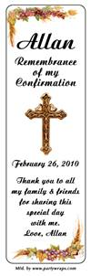 Confirmation Gold Cross Bookmarker