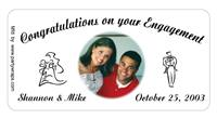 Engagement Bride Groom Photo Label