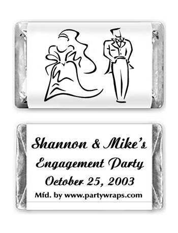 Engagement Miniature Candy Bars - with a Graphic