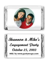 Engagement Miniature Candy Bars - with a Photo