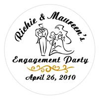 Engagement Bride & Groom Label