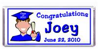 Graduation Cartoon Boy Candy Bar