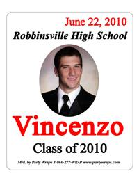 Graduation Photo Label
