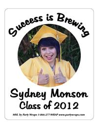 Graduation Success Photo Label