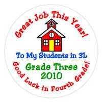 Graduation Schoolhouse Label