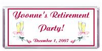 Retirement Champagne with Rose Candy Bar