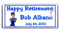 Retirement Policeman Candy Bar