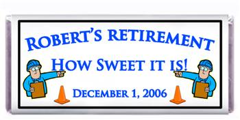 Retirement Construction Candy Bar